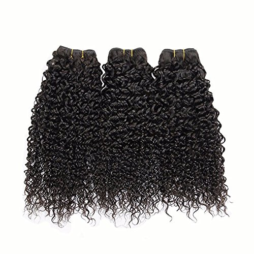 Miss-Kiss-Hair-Mix-Length-Virgin-Hair-Brazilian-Kinky-Curly-Wavy-Human-Hair-Unprocessed-Extension-Natural-Color-Pack-of-3-Bundles-Remy-Hair-Weave-for-Black-Women-Fashion-Lady-14-14-14