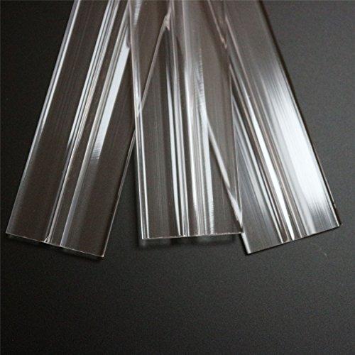 """3 x 300mm, 12"""", low profile flex hinges, flexible living hinges, plexiglass, Transparent, Continuous Acrylic Piano Hinges"""