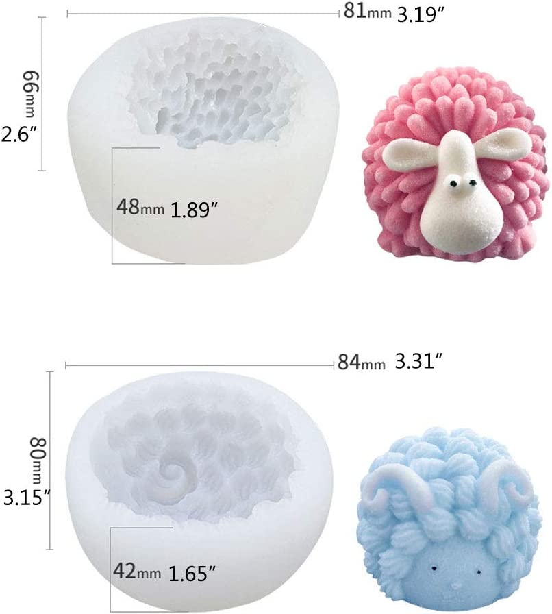 Silicone Resin Mold Handmade Soap Mold 3D Sheep Pendant Keychain Jewelry Tools