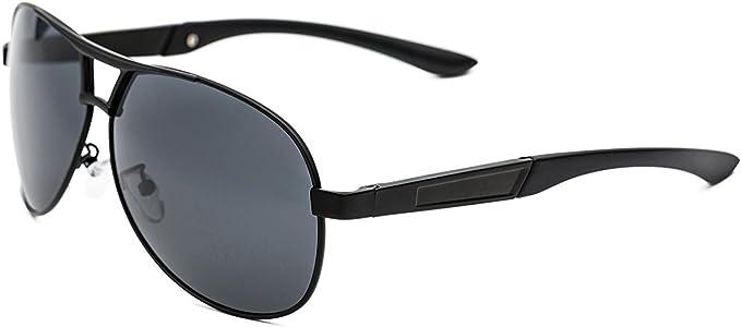 CHB Gafas de Sol Polarizadas para Hombre, Estilo Aviador ...