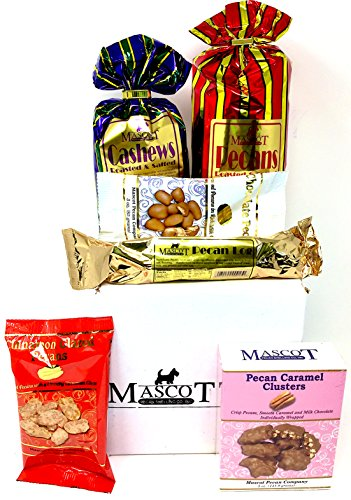 Mascot Candy and Nut Gifts since 1955- Deluxe Collection Chocolate, Nuts, Candies, Caramel JUMBO Size 39 oz Variety Bundle Corporate College Office Military Thank You Gift