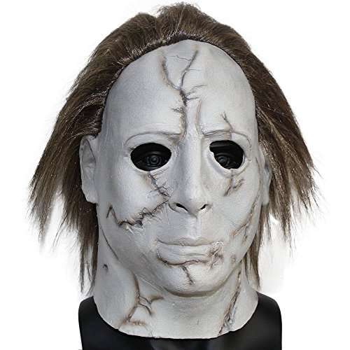 6 The Curse Of Michael Myers Classic Movie cosplay Scary Latex Mask for Halloween (Scary Movie Halloween Mask)