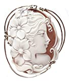Cameo Pendant Summer Dream Sterling Silver Master Carved Italian Sardonyx Shell