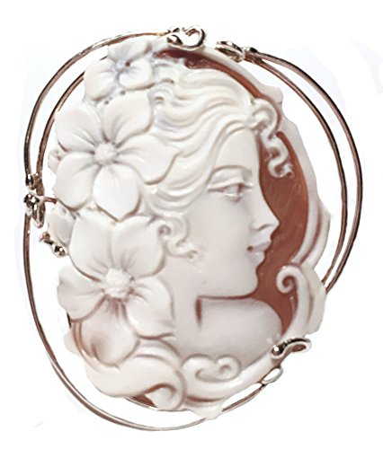 Cameo Pendant Summer Dream Sterling Silver Master Carved Italian Sardonyx Shell by cameosRus