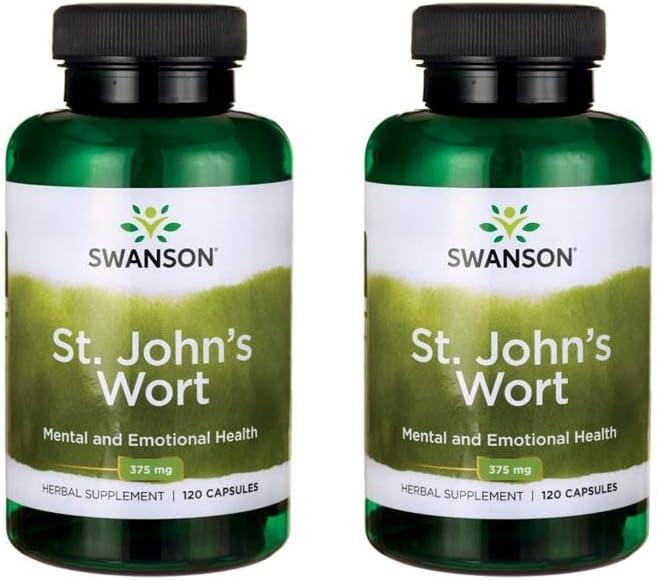 Swanson St. John s Wort 375 mg 120 Caps 2 Pack