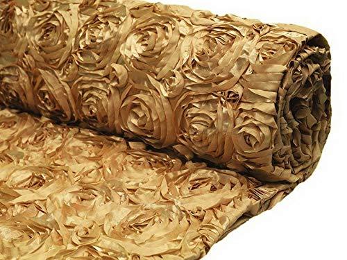 Mikash 54 Wide x 12 feet Raised Roses Fabric Bolt Wedding Party Decorations Wholesale | Model WDDNGDCRTN - 9359 |