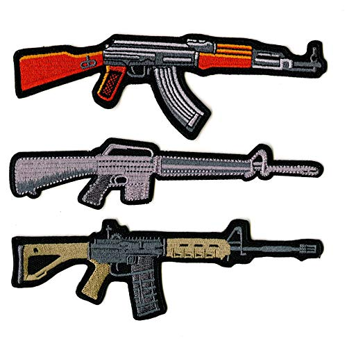 Assault Rifles Guns Military Patches | Embroidered Patch 3 pc. Set (4.5