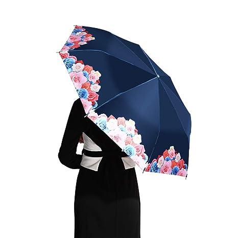 4c4bf6ceba34 Loplay Parasol Umbrella, 99% UV Protection Travel Folding Sun Rain  Umbrella- Compact UPF 50+ UV Block Umbrella