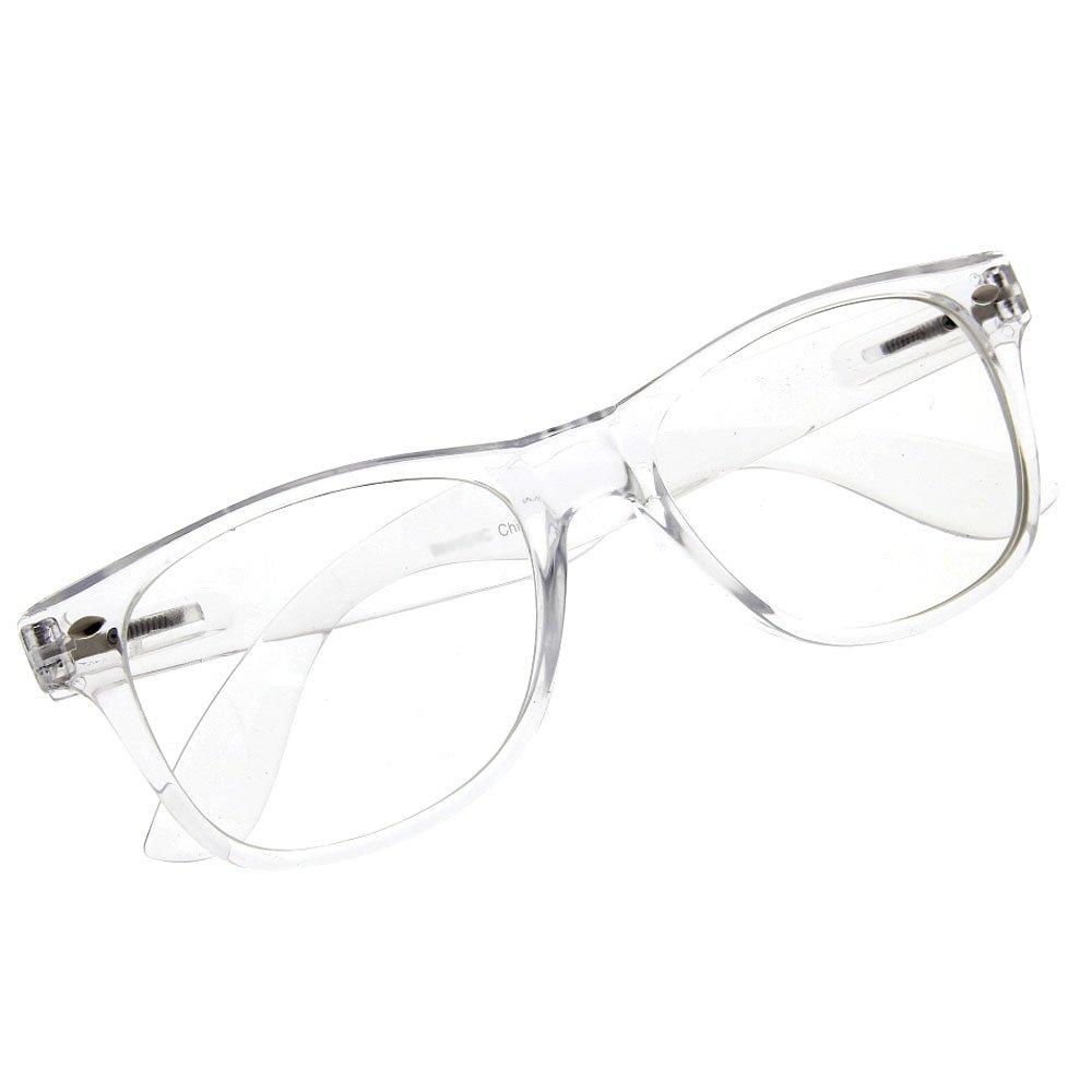 grinderPUNCH Crystal Clear Frame Lens Transparent Sunglasses ...
