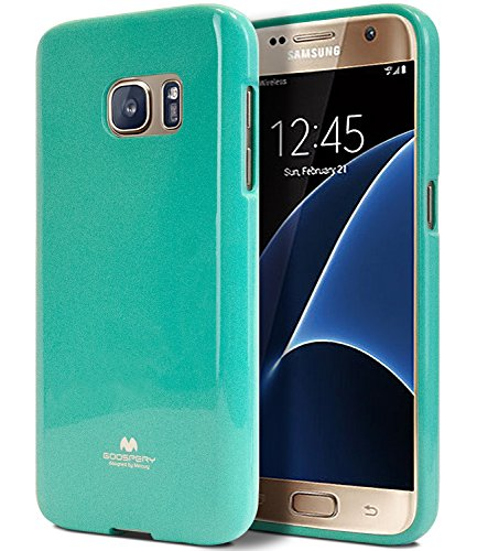 (Galaxy S7 Case, [Thin Slim] GOOSPERY [Flexible] Pearl Jelly Rubber TPU Case [Lightweight] Bumper Cover [Impact Resistant] for Samsung Galaxy S7 (Mint) S7-JEL-MNT)