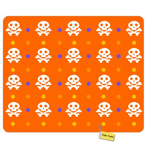 Gaming/Working Mousepad Cute Skull Design - Halloween Patterns Bones Round Rectangle Non-Slip Rubber Comfortable Desk Mousepad Standard Mouse Pad Gift 9.5