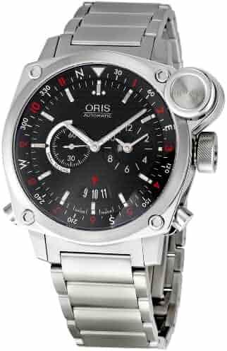 Oris Men's 690-7615-4154MB BC4 Flight Timer Black Dial Watch