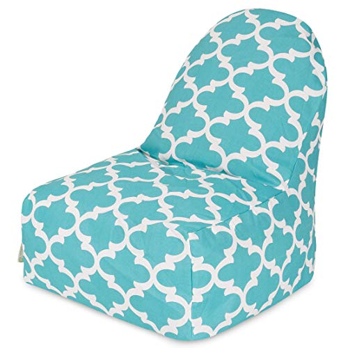 Majestic Home Goods Trellis Kick-It Chair, Teal