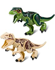 Greshare 2 Vivid Large-scale Dinosaur Blocks for Children over 4 Years Old (Large, C02)