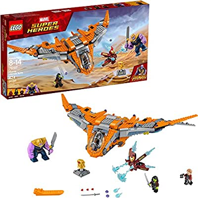 LEGO Marvel Super Heroes Avengers: Infinity War Thanos: Ultimate Battle 76107 Guardians of the Galaxy Starship Action Construction Toy and Building Kit for Kids (674 Pieces): Toys & Games
