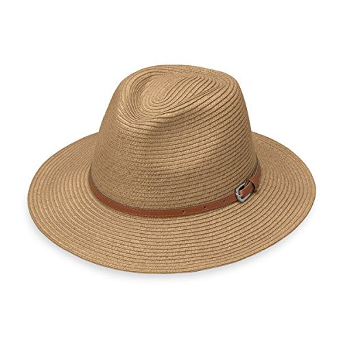 c61b78683 Details about Wallaroo Women's Naples Sun Hat - Colorful Paper Braid Fedora  - UPF50+, Camel