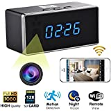 Spy Camera Clock 1080P WIFI Hidden Camera Detector Night Vision Camcorder Motion Detection Webcam Surveillance Cameras for Home Office Pet Baby Monitor Camera