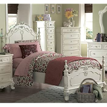 Amazon.com: Cinderella Full Bed by Homelegance in Off-White/Cream ...