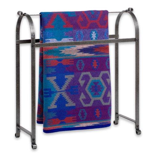 Enclume Premier Quilt Rack, Hammered Steel (Iron Blanket Rack)