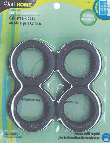 Matte Grommets - Large Curtain Grommets- Matte Black, 1-9/16