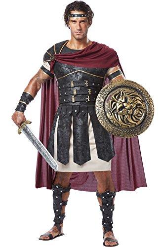 [California Costumes Men's Roman Gladiator Adult, Black/Burgundy, X-Large] (Mens Gladiator Costumes)
