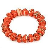 NOVICA Beaded Bracelet, 7.5'' 'Taifa Tangerine'