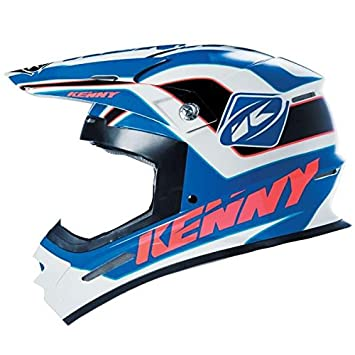 KENNY - Casco Cross Track, azul y negro, 59/60 Cm