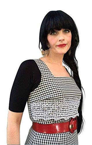 Sleevey Wonders Womens Black Jersey Reversible slip-on 1/2 sleeves Shapewear (1X, Black Jersey)