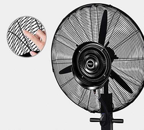 Ventilatori industriali Raffreddamento grande, Ventilatori da pavimento silenziosi per camera da letto, Ventilatore a piedistallo nero, Oscillazione, 3 livelli di potenza