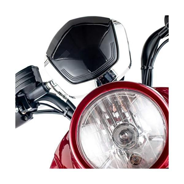 VELECO ZT63 Scooter elettrico 3 ruote per anziani e disabili Seniors Allarme 650W ROSSO 7 spesavip