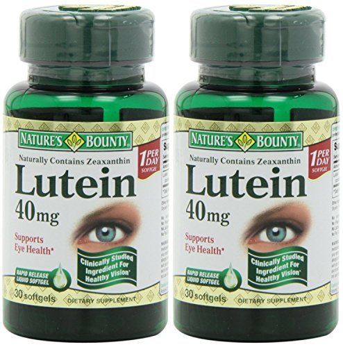 Nature's Bounty Lutein Softgels, 30 count (Pack of 2) by Nature's Bounty