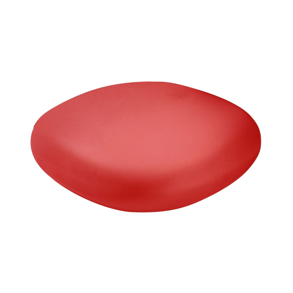 Slide Chubby Low Pouf - Small table Flame Red