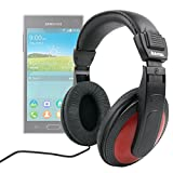 DURAGADGET Lightweight, Passive Noise Cancelling, Supreme Comfort, Stereo Over-Ear Headphones For Samsung Z, Samsung Galaxy Discover S730M, Sony Xperia M4 Aqua & Sony Xperia C3