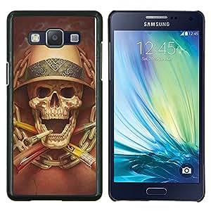 """Be-Star Único Patrón Plástico Duro Fundas Cover Cubre Hard Case Cover Para Samsung Galaxy A5 / SM-A500 ( Muerte Explorador Cráneo que fuma Safari"""" )"""
