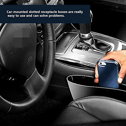 Black Car Storage Box Gap Filler Plastic Console Pocket Organizer Interior Accessories Car Seat Side Drop Caddy Catcher