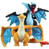 "Cute Pokemon Charizard Mega XY 25cm/10"" Soft Plush Stuffed Doll Toy X Y. (2 PCS SET)"