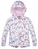 Jingle Bongala Kids Girls Boys Hooded Jacket Cotton Lined Light Windbreaker Cartoon Printed-Pink Cat-4-5Y