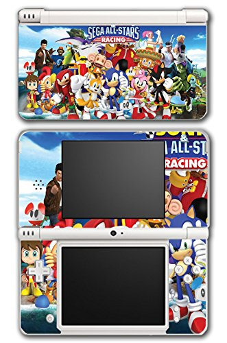 Sega All Stars Sonic Shenmue Knuckles Tails Amy Shadow Eggman Monkey Ball Racing Video Game Vinyl Decal Skin Sticker Cover for Nintendo DSi XL System