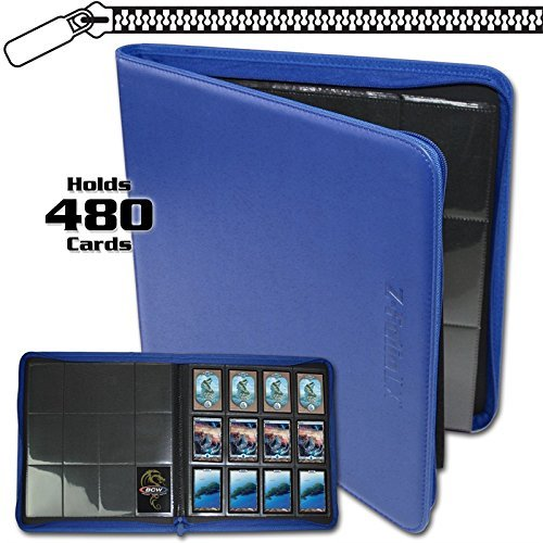 (BCW Z-Folio LX Zipper Portfolio Blue 12 Pocket Playset Album)