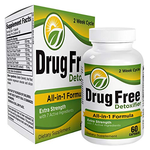 All-in-1 Drug Free Detoxifier Supplement - Drug Detox Pills - Drug Cleanse Supplements
