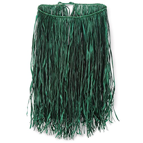 Beistle 50433-G Extra Large Raffia Hula Skirt Party Supplies, Green