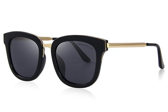 17ba0c3990 MERRY S Women Polarized Sunglasses Cat eye Sun glasses Metal Temple 100% UV  Protection S6082 (