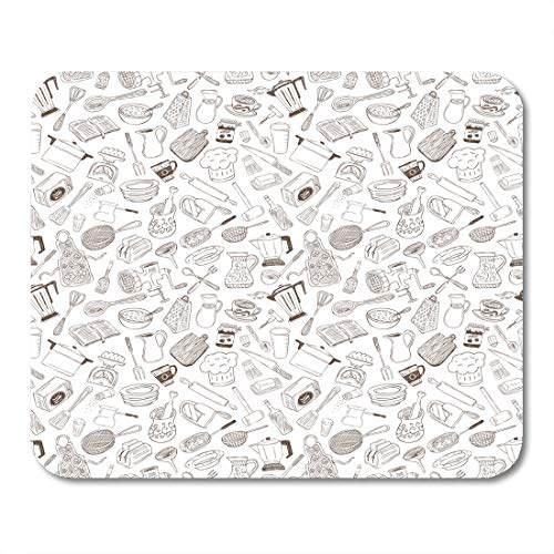 - Emvency Mouse Pads Bake Utensil Pattern Cooking Tool Bakery Mousepad 9.5
