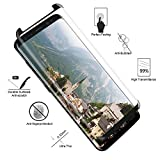 Galaxy S8 Screen Protector,Samsung S8 Screen Protector [Full Coverage] [Case Friendly],Thinkcase [3D Curved Glass] [Tempered Glass] Screen Protector (SY009)