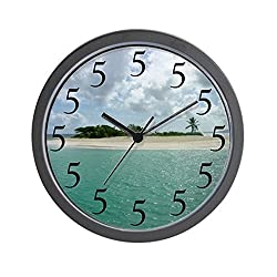 CafePress Island Time Wall Clock - Standard Multi-color