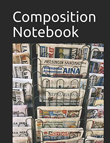 Composition Notebook: Newspaper Rack themed Composition Notebook 100 pages measures 8.5