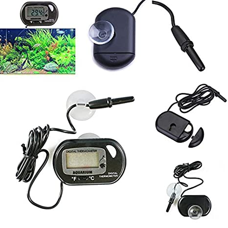 Blue Nikgic Acuario Termometro Digital Fish Tank Acuario terrario Reptil bivalvo