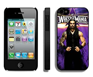 Popular And Durable Custom Designed Case For iPhone 4 With Wwe Roman Reigns Black Phone Case