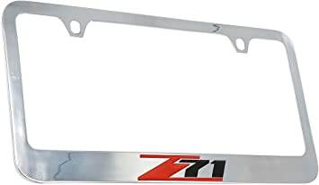 Chevrolet Corvette C5 Chrome Metal license Plate Frame Holder 4 Hole