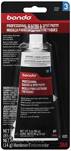 Glazing Putty (Bondo 801 Professional Glazing and Spot Putty - 3.0 oz.)